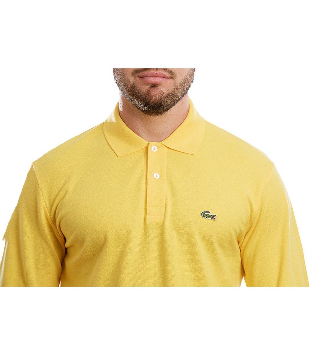 Поло с длинным рукавом Lacoste Classic (Лимонный)