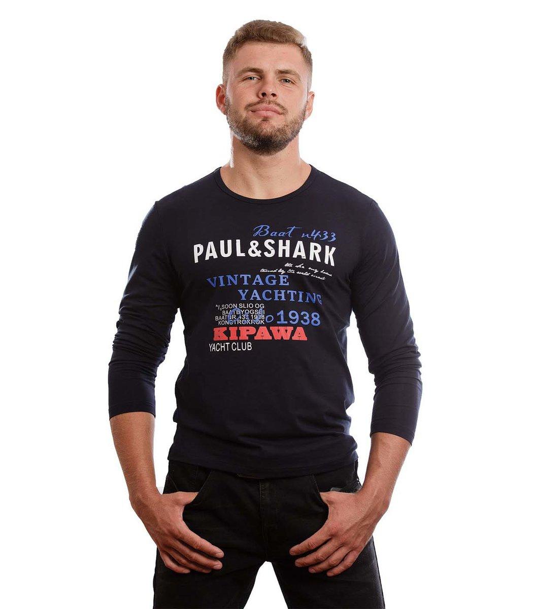 Синий лонгслив  Paul&Shark L2 (Синий)