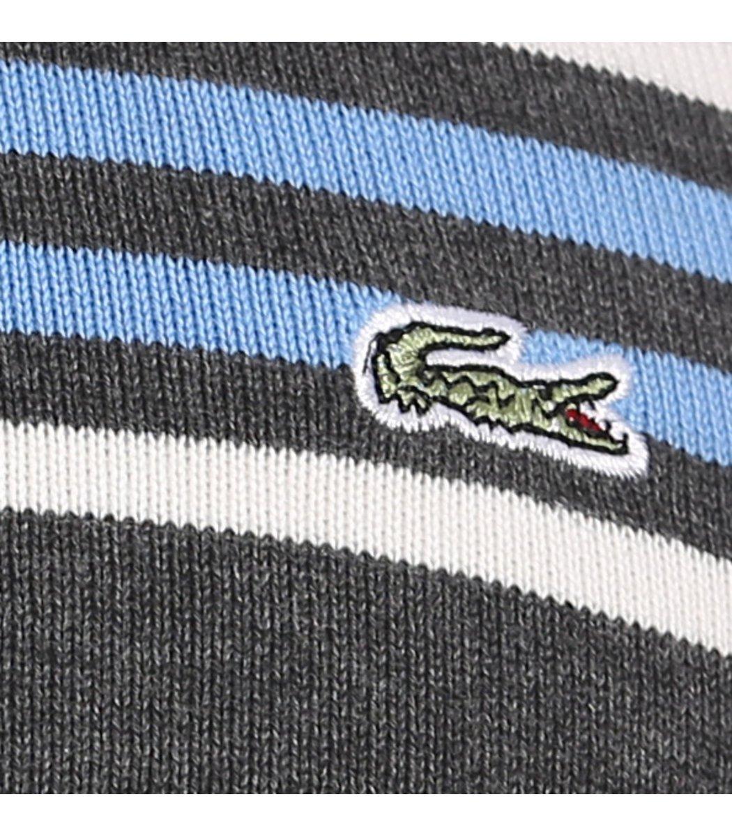 Джемпер в полоску Lacoste JL1 (Серый/Голубой) - Серый - Вид 5