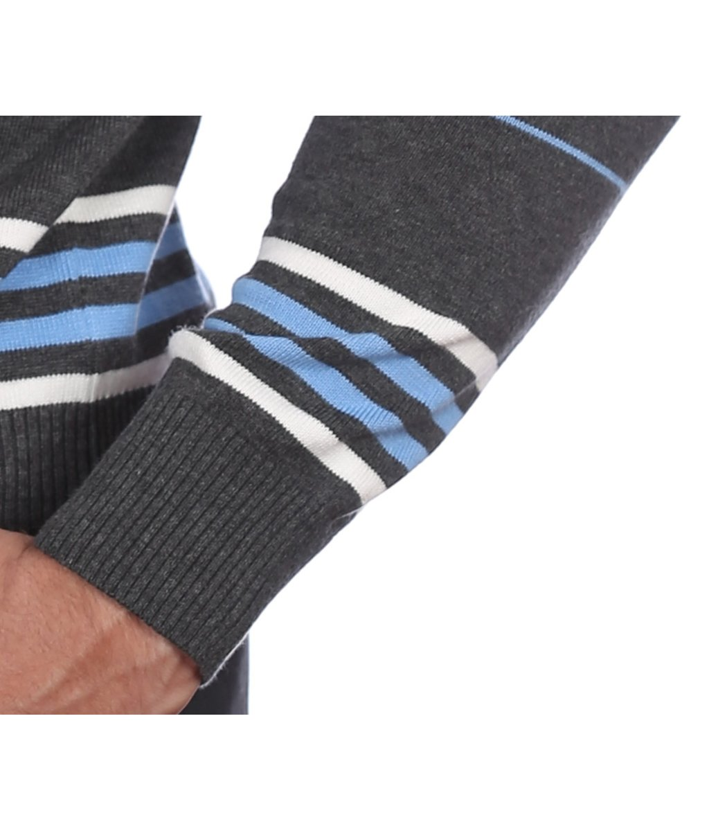 Джемпер в полоску Lacoste JL1 (Серый/Голубой) - Серый - Вид 6