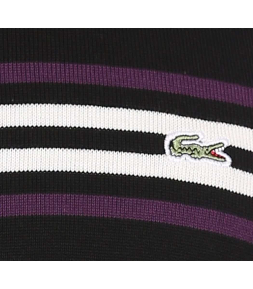 Джемпер в полоску Lacoste JL1 (Черный/фиолетовый) - Черний - Вид 6