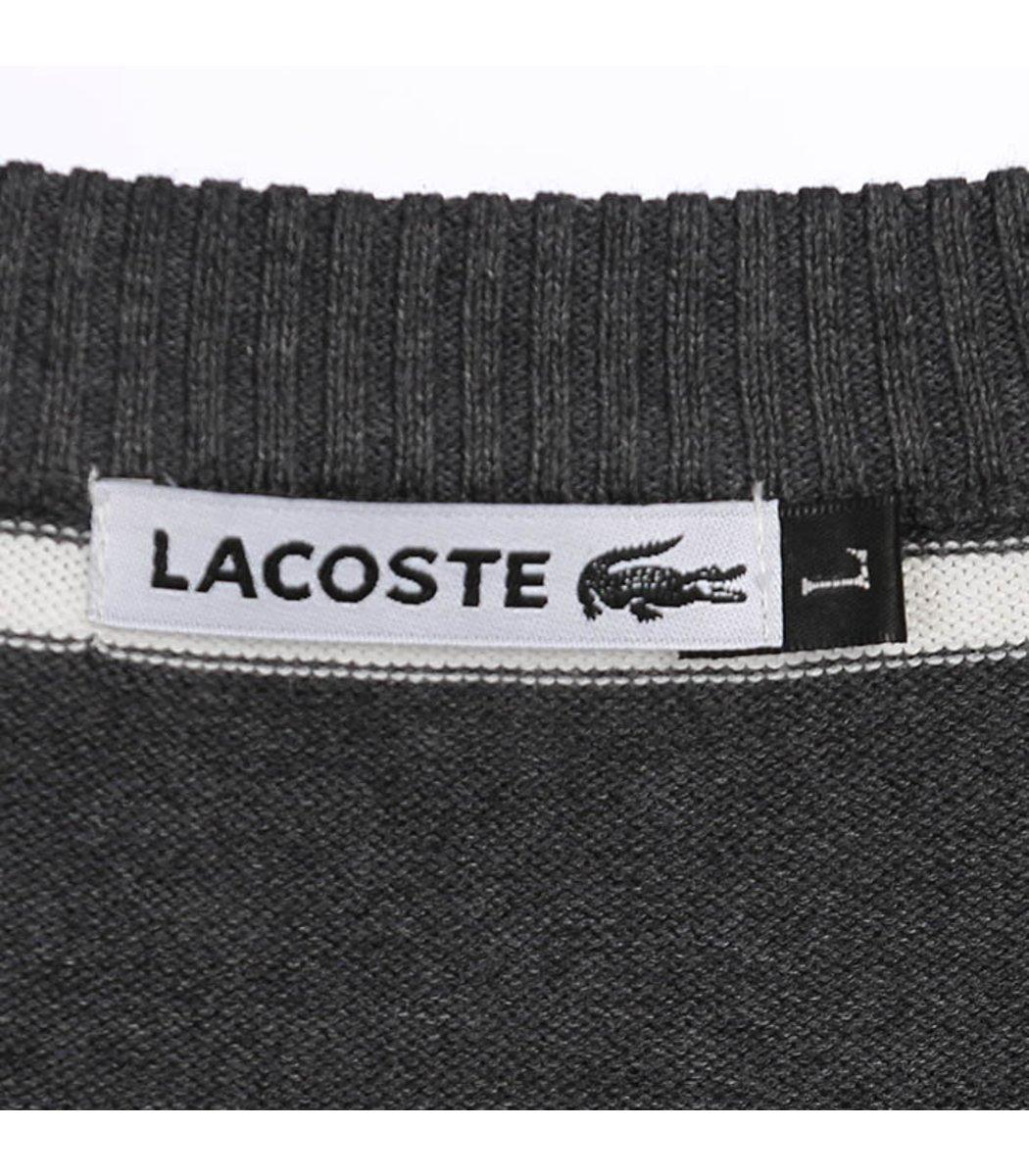 Джемпер в полоску Lacoste JL1 (Серый/Голубой) - Серый - Вид 7