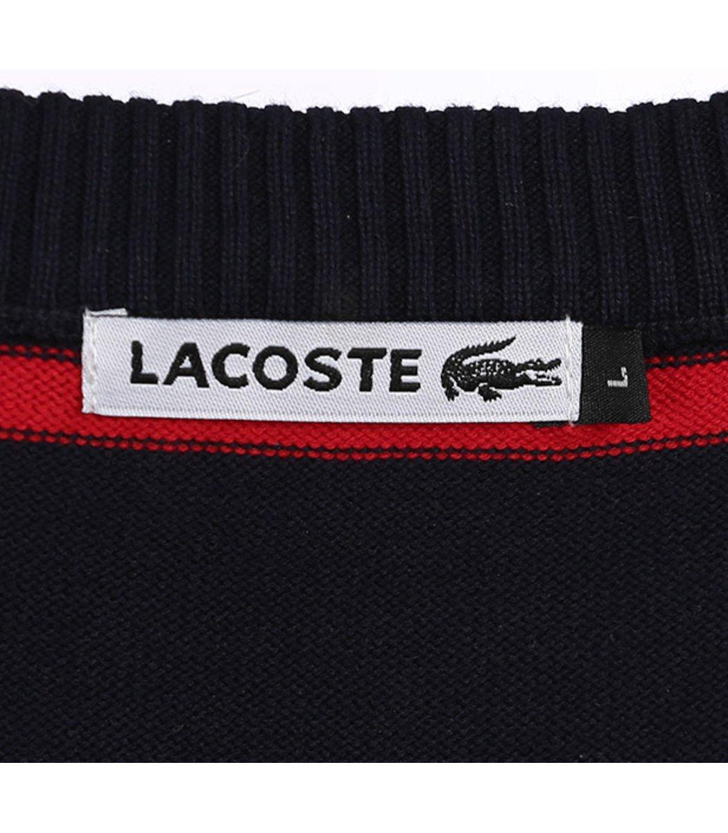 Джемпер в полоску Lacoste JL1 (Темно-синий/красный)