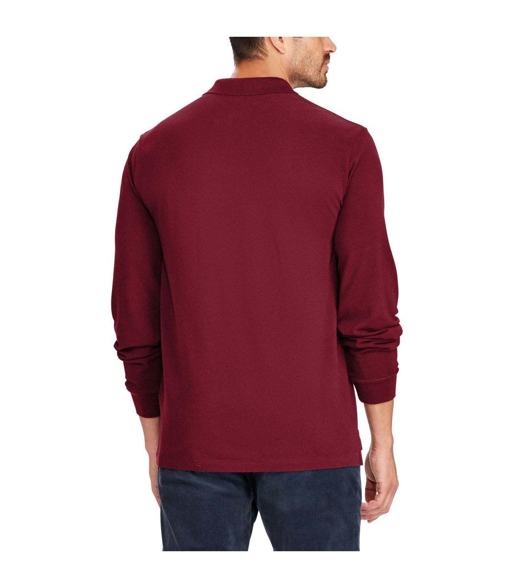 Бордовое поло с длинным рукавом POLO Ralph Lauren PR1