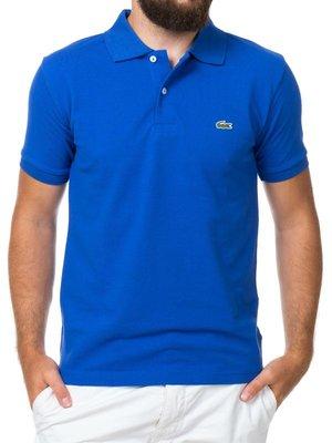 Мужская синяя футболка поло Lacoste  - Синий - Вид 2