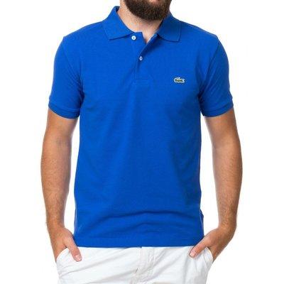 Синяя футболка поло Lacoste