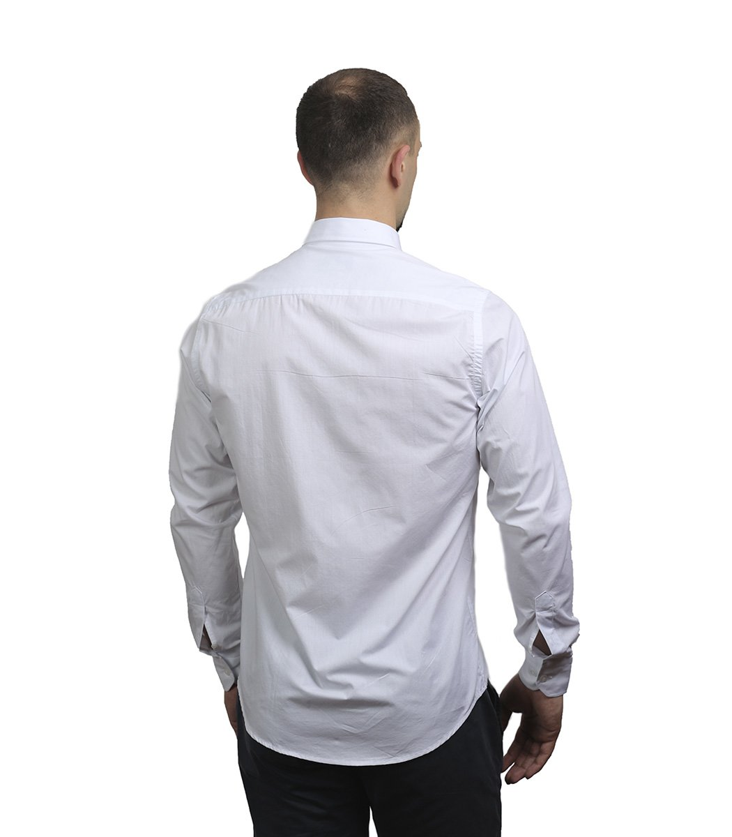 Белая рубашка Emporio Armani - Белый - Вид 5