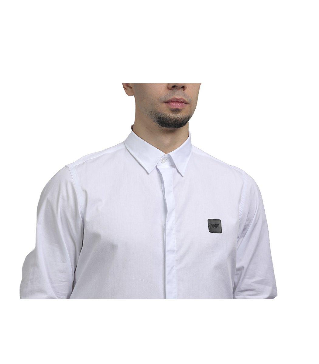 Белая рубашка Emporio Armani - Белый - Вид 4