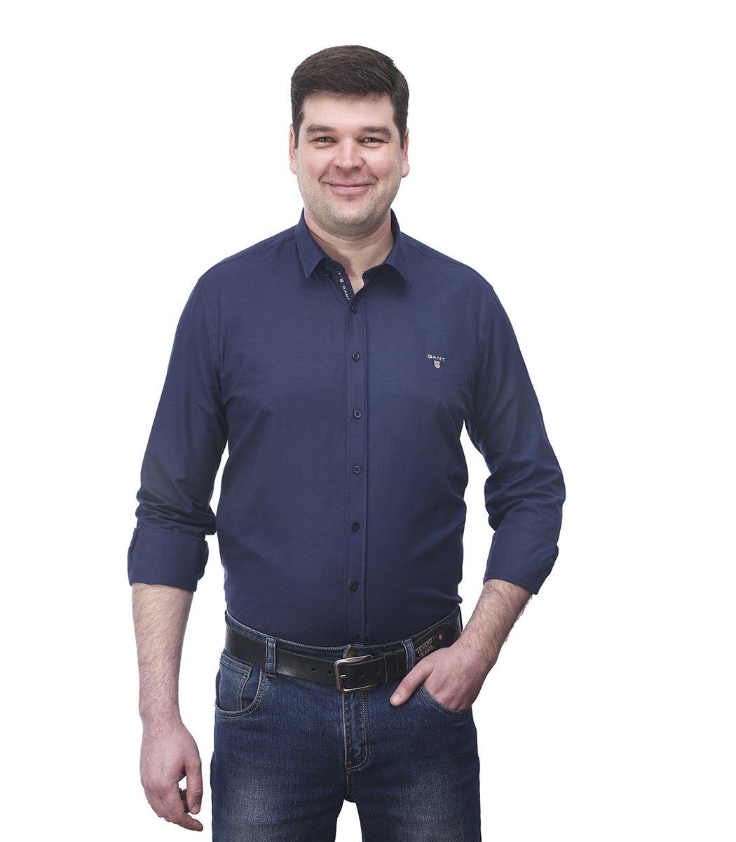 Темно-синяя классическая рубашка GANT RG1