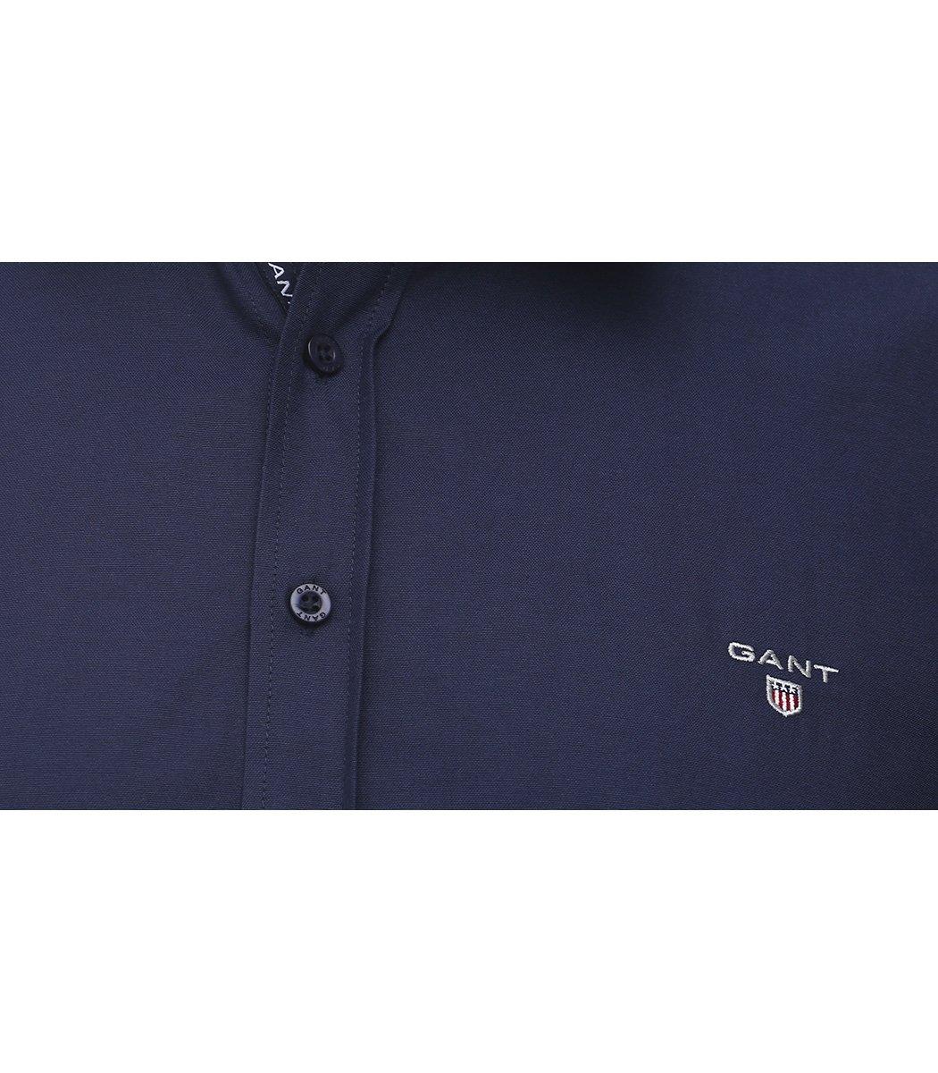 Темно-синяя классическая рубашка GANT RG1 - Темно-синий - Вид 4
