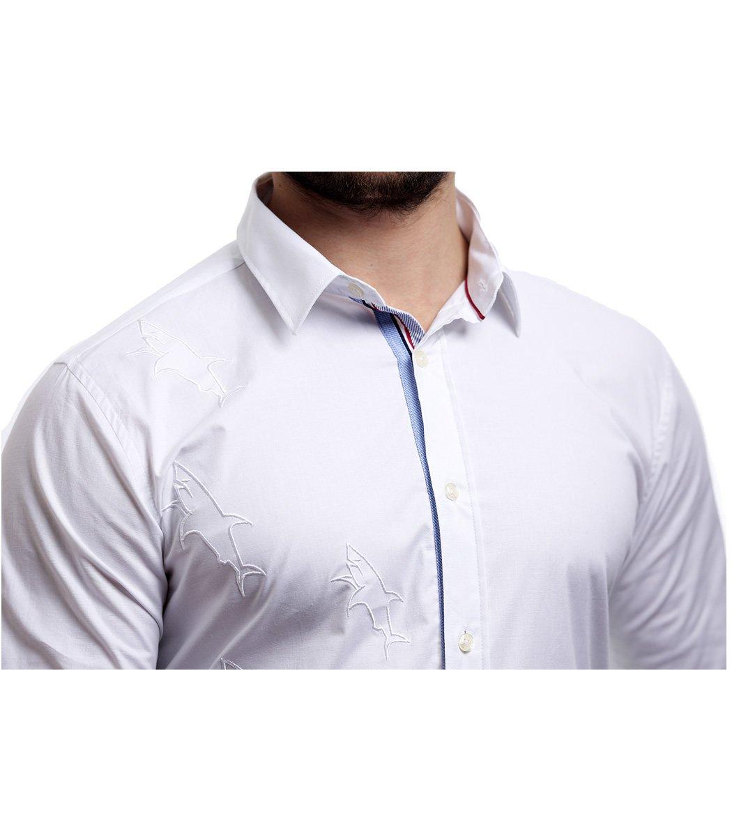 Белая рубашка Paul&Shark - Белый - Вид 3