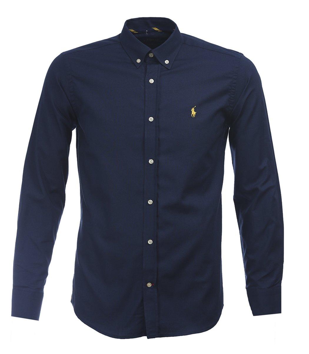 Темно-синяя рубашка POLO Ralph Lauren classic