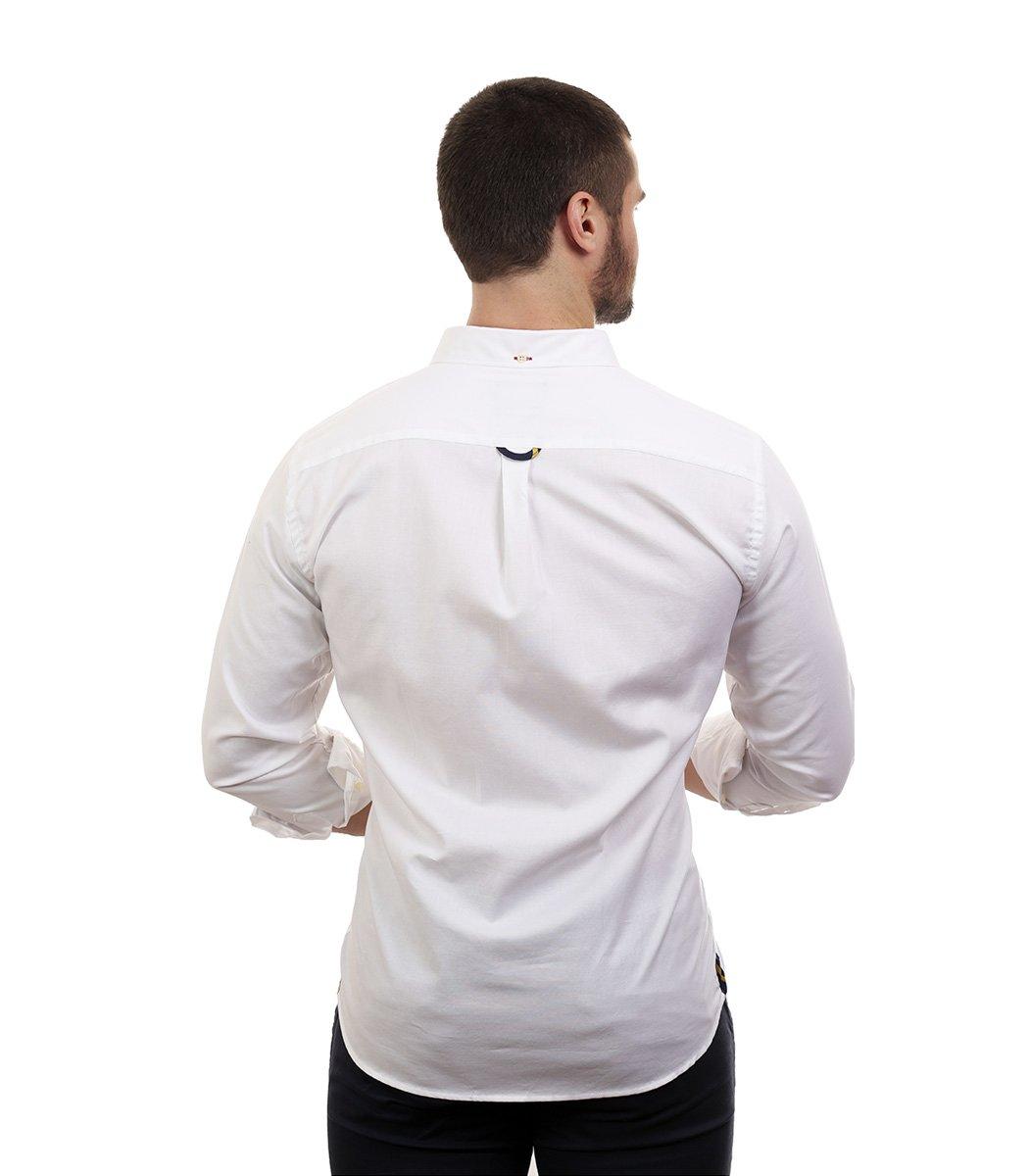 Белая рубашка POLO Ralph Lauren classic - Белый - Вид 5