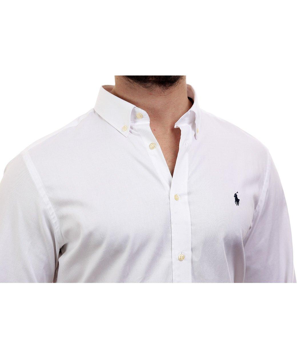 Белая рубашка POLO Ralph Lauren classic - Белый - Вид 4