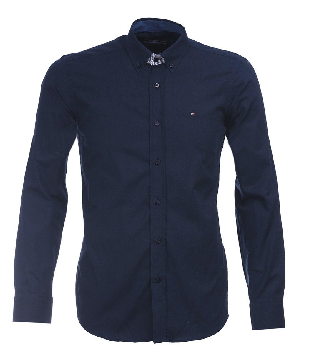 Темно-синяя рубашка Tommy Hilfiger classic