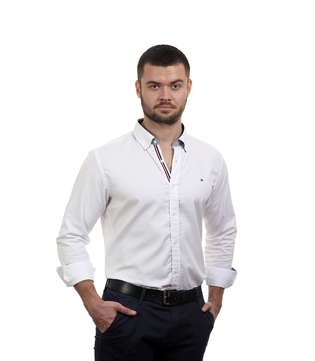 Белая рубашка Tommy Hilfiger classic