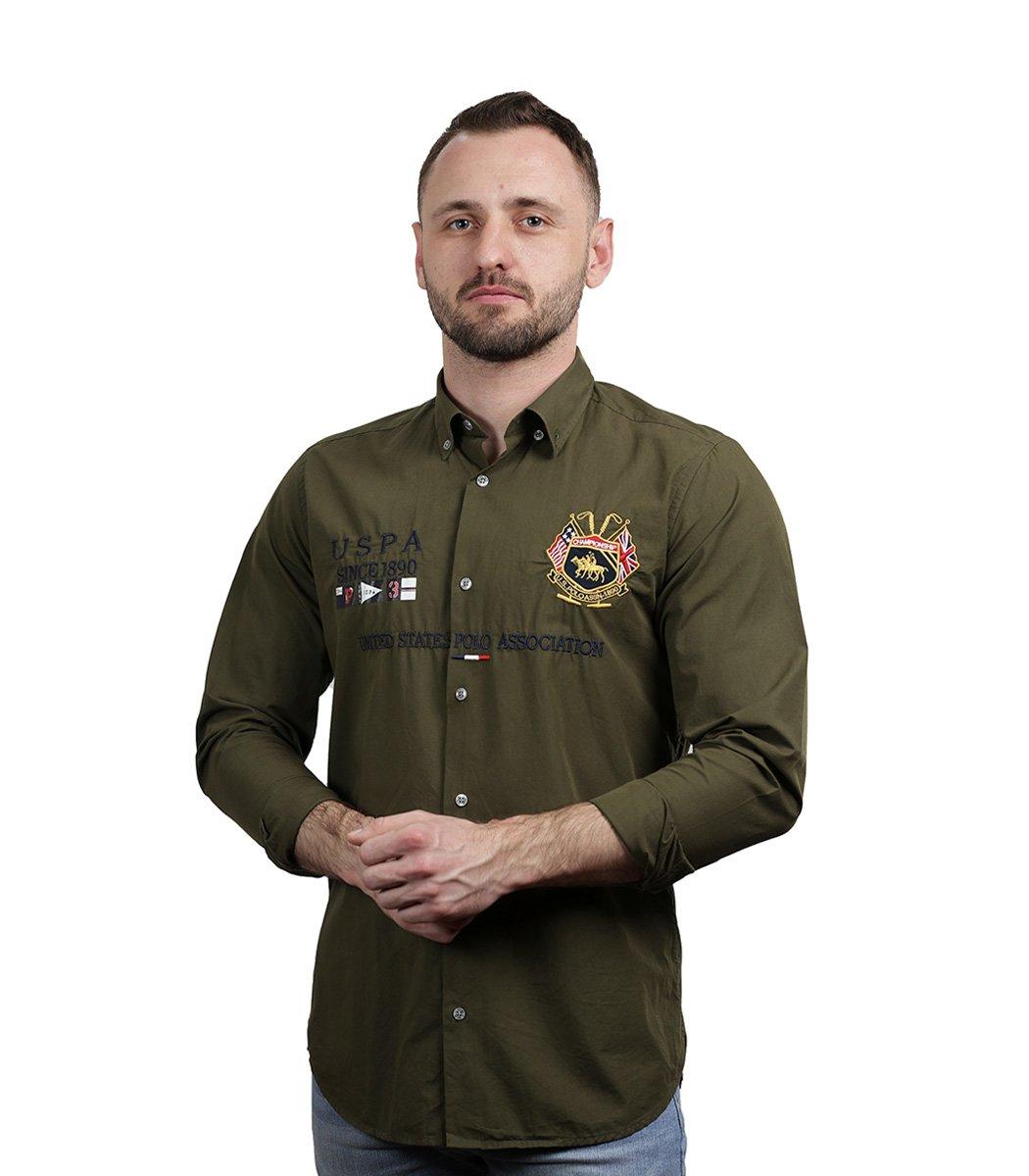 Зеленая рубашка U.S. Polo ASSN
