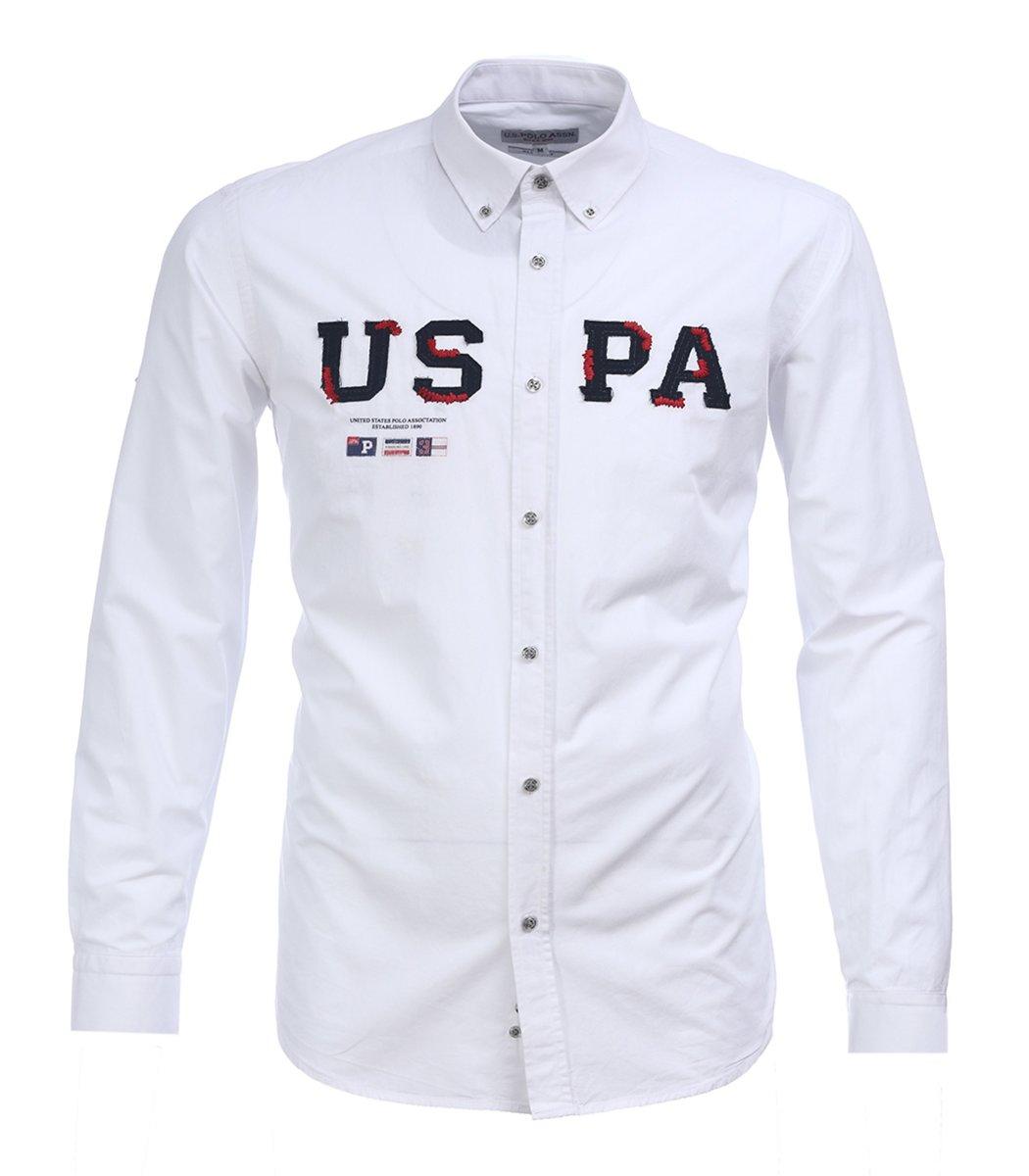 Белая рубашка U.S. Polo ASSN с вышивкой