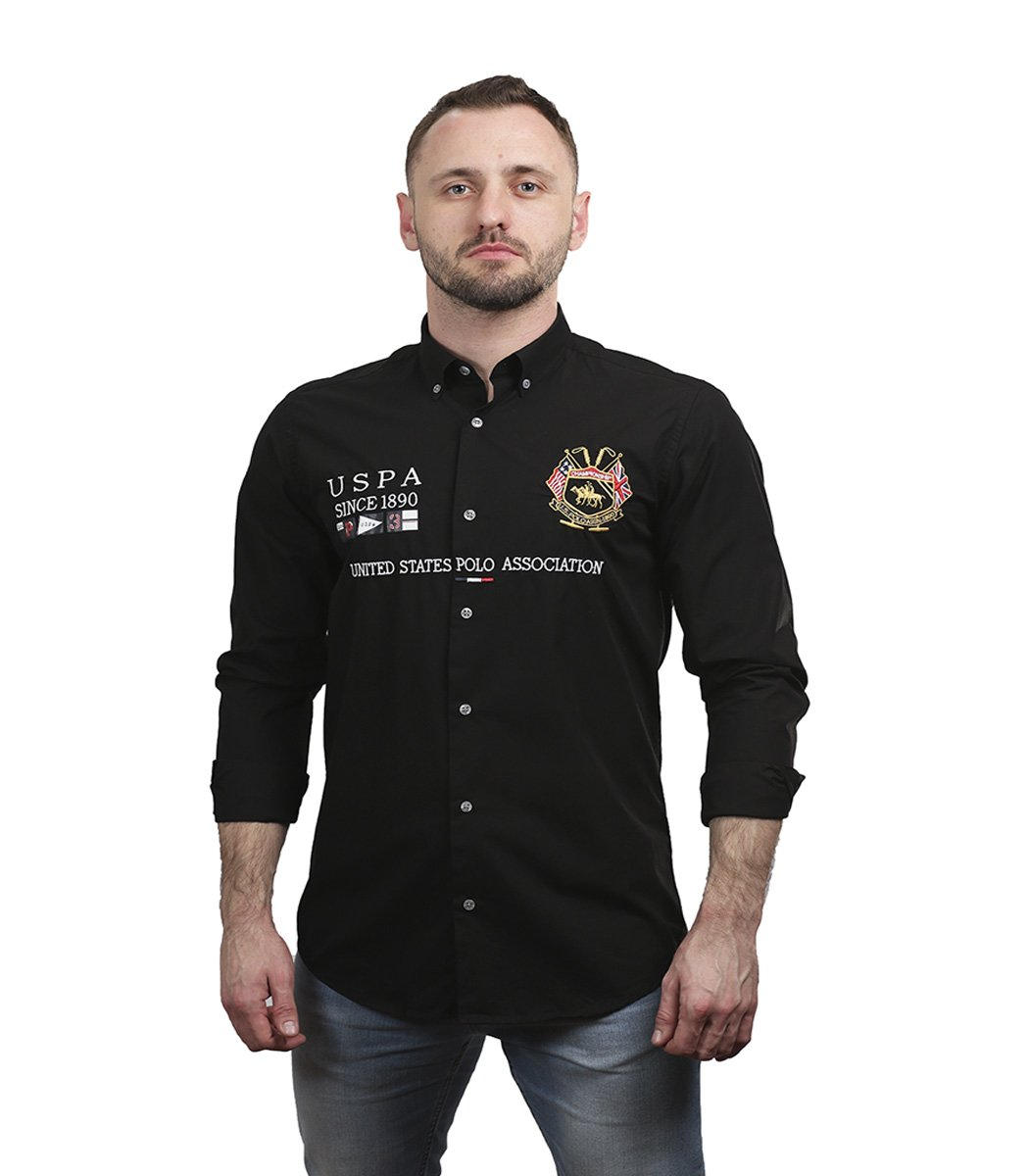 Черная рубашка U.S. Polo ASSN