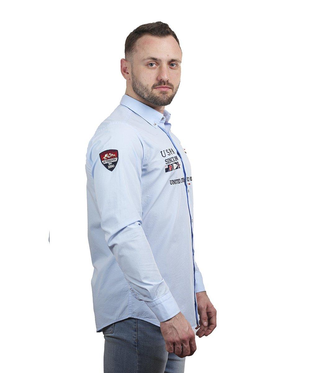 Голубая рубашка U.S. Polo ASSN