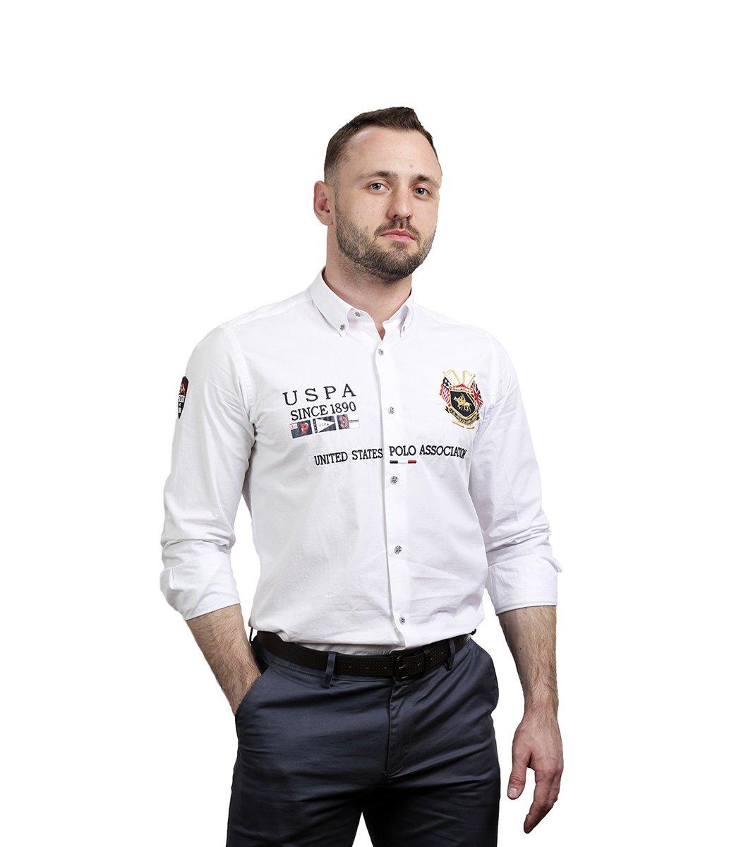 Белая рубашка U.S. Polo ASSN - Белый - Вид 4