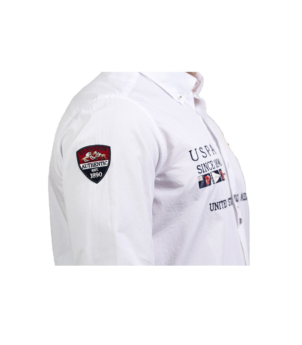 Белая рубашка U.S. Polo ASSN