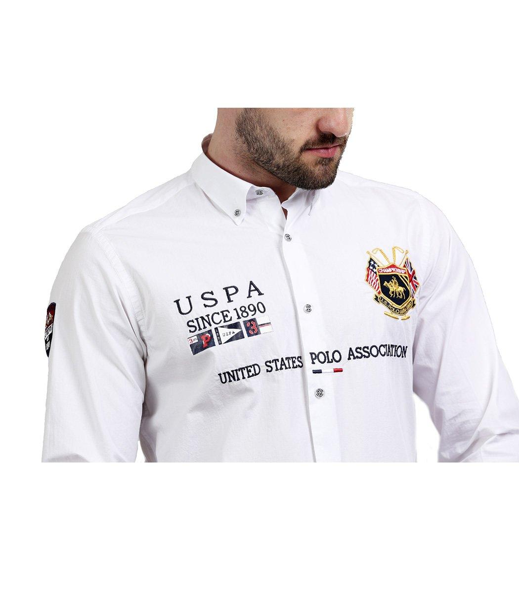 Белая рубашка U.S. Polo ASSN - Белый - Вид 5