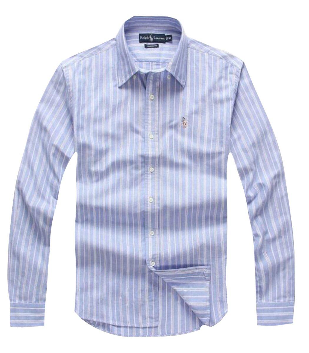 Рубашка POLO Ralph Lauren Stripes (Голубой)