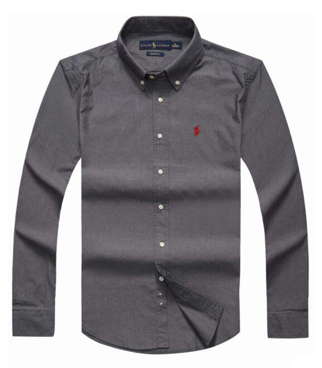 Рубашка POLO Ralph Lauren RR1 (Темно-серый) - Темно серый - Вид 1