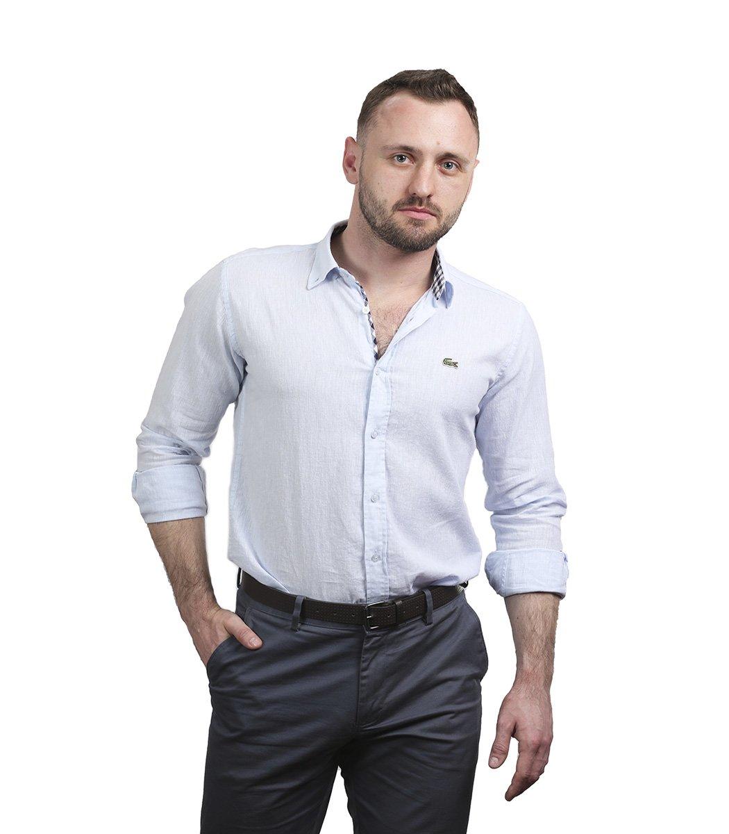 Светло-голубая рубашка Lacoste classic