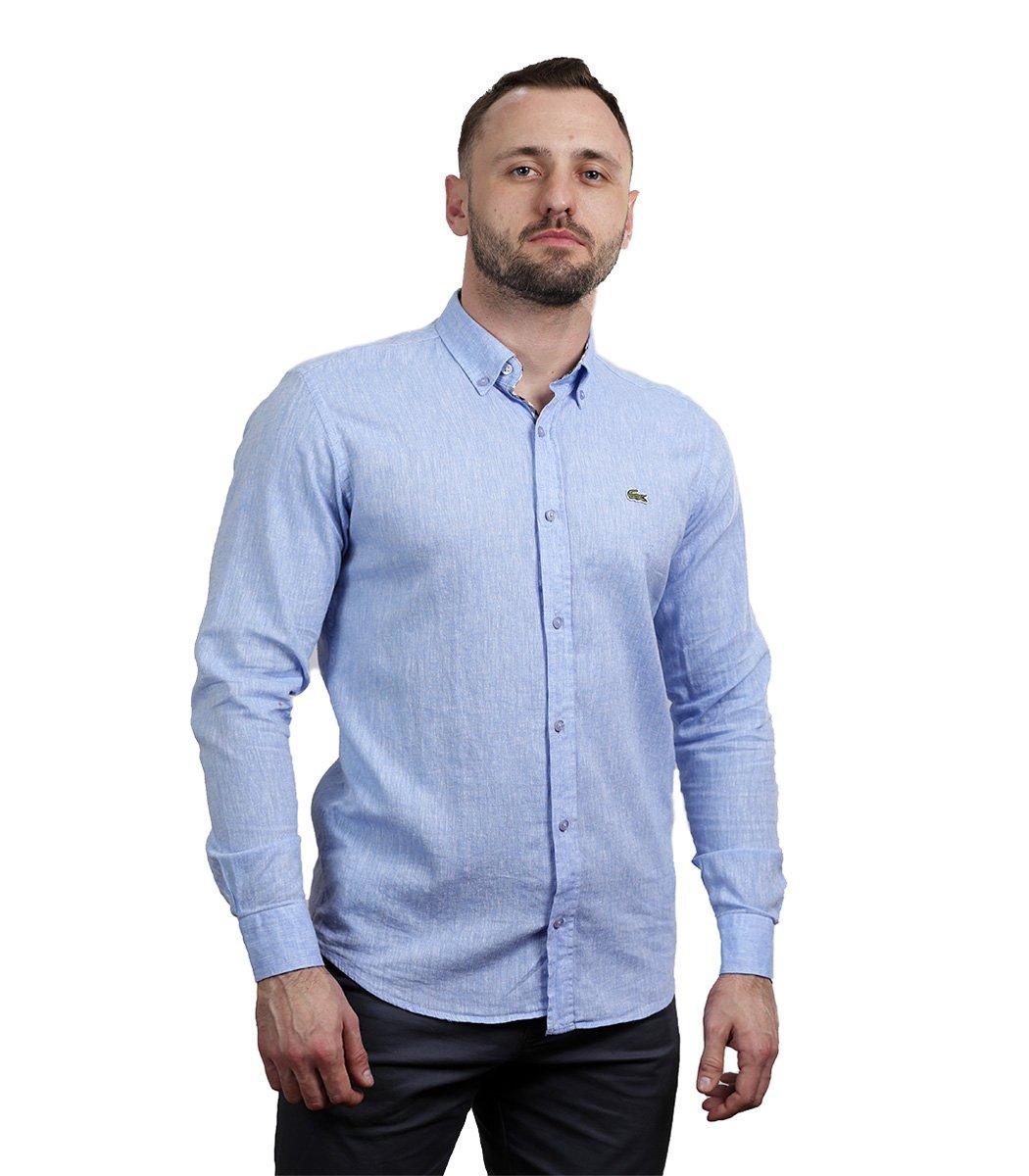Голубая рубашка Lacoste classic