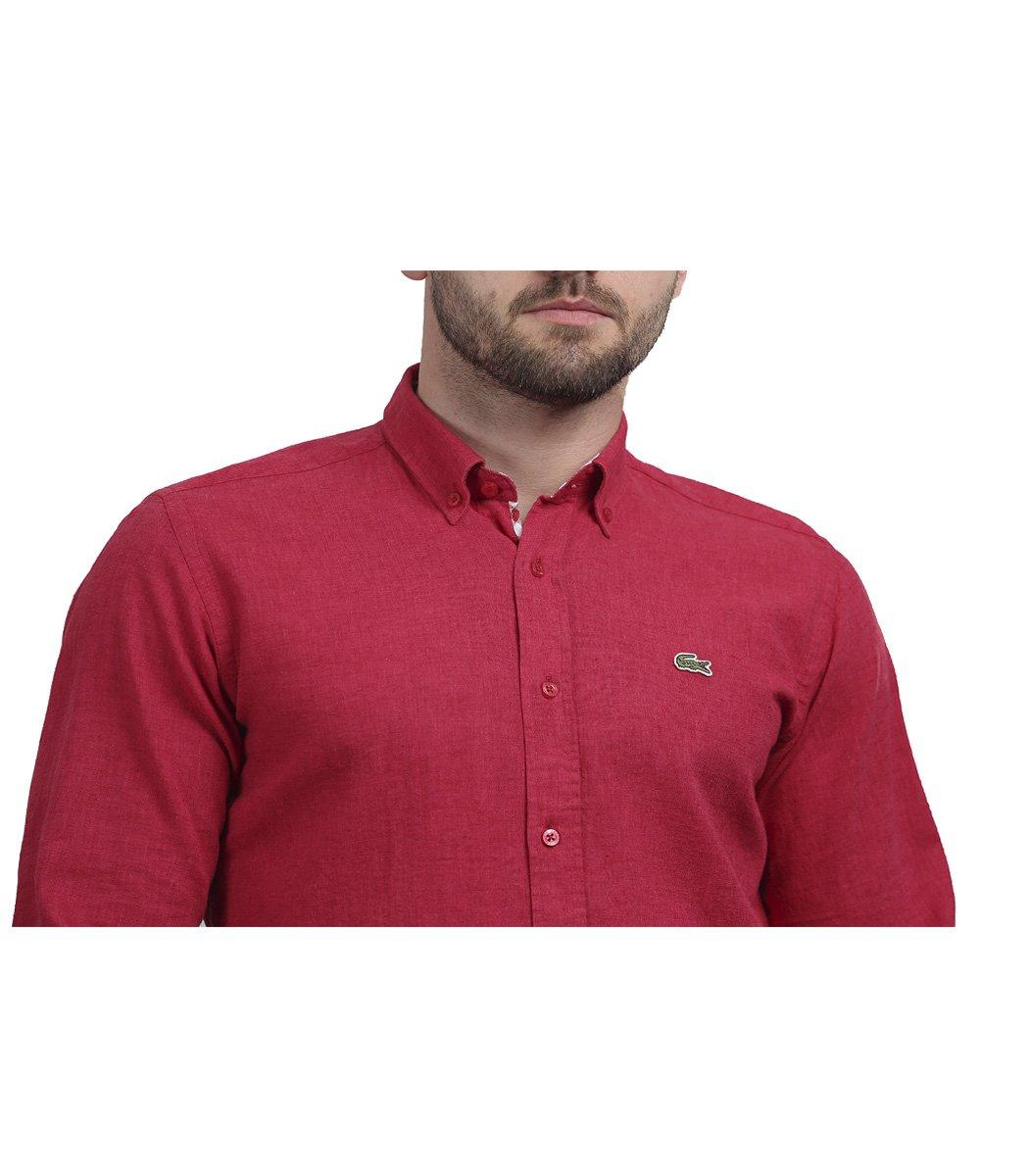 Красная рубашка Lacoste classic