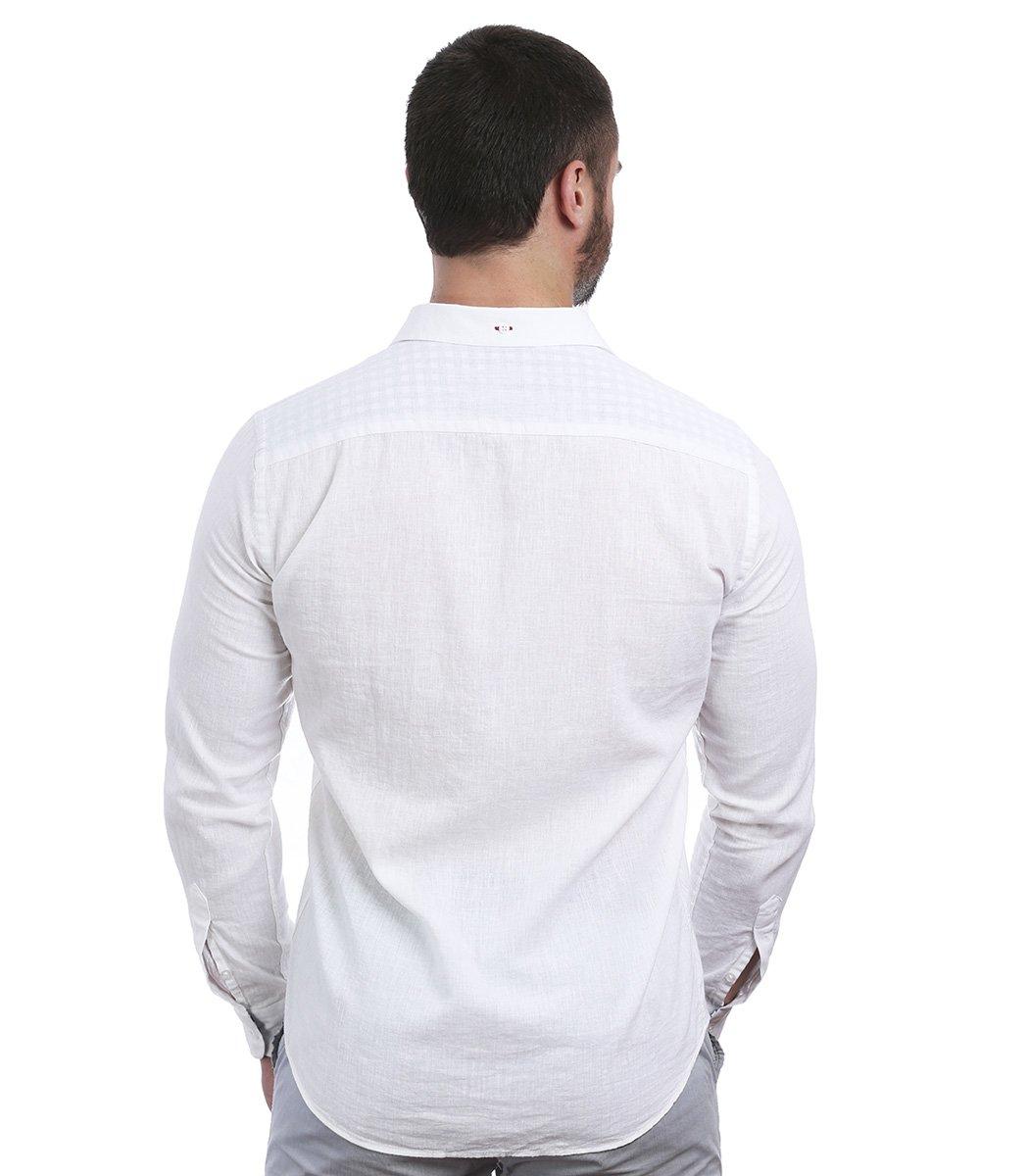 Белая рубашка Lacoste classic RL1