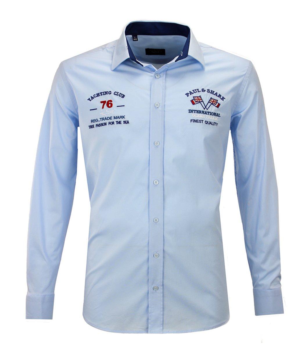 Голубая рубашка Paul&Shark 76 RP1 - Голубой - Вид 1