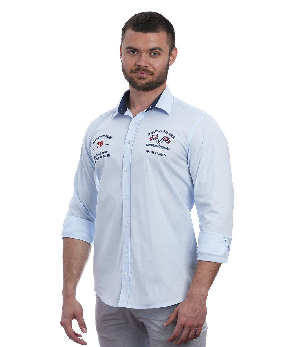 Голубая рубашка Paul&Shark 76 RP1 - Голубой - Вид 3
