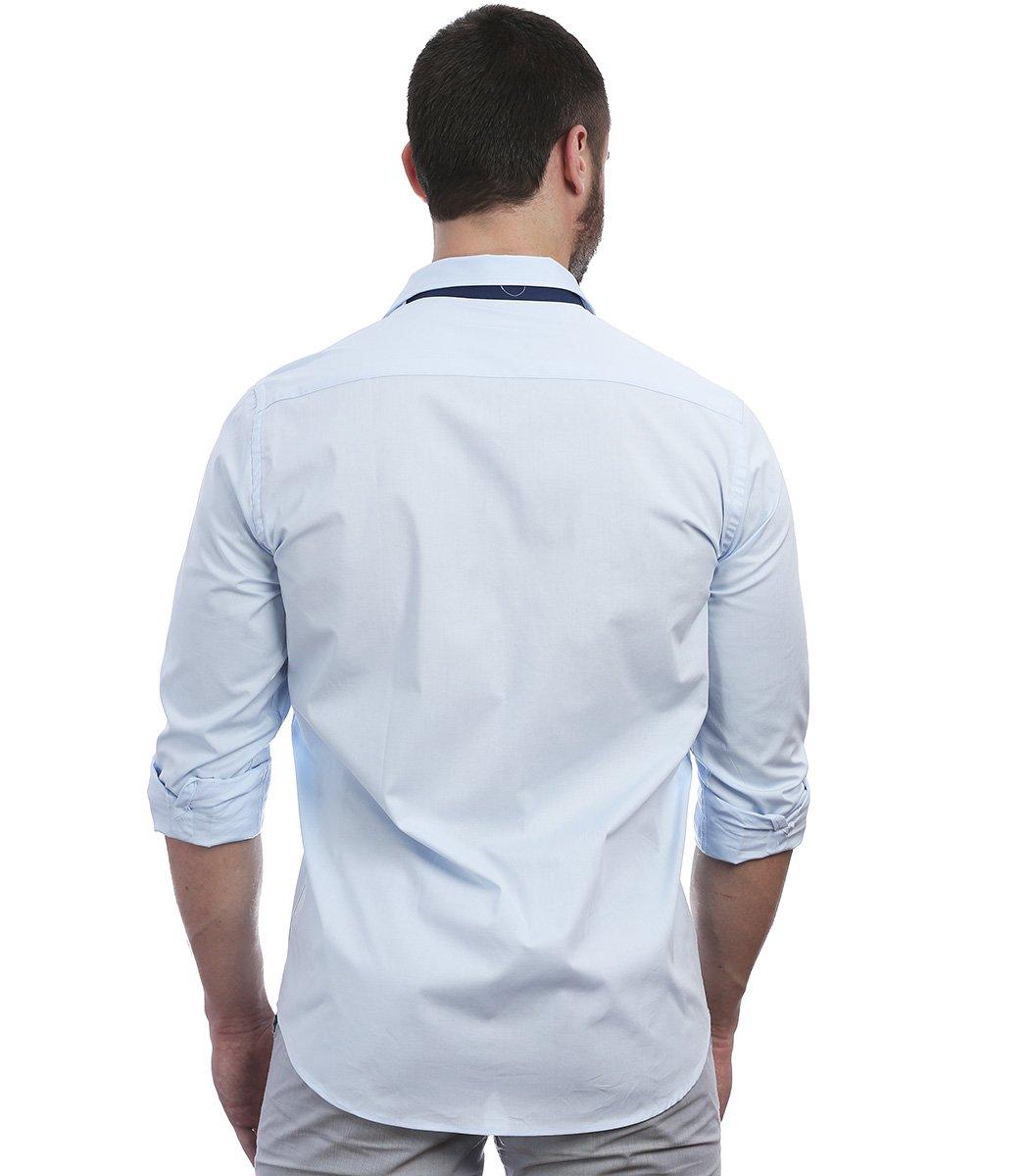 Голубая рубашка Paul&Shark 76 RP1 - Голубой - Вид 5