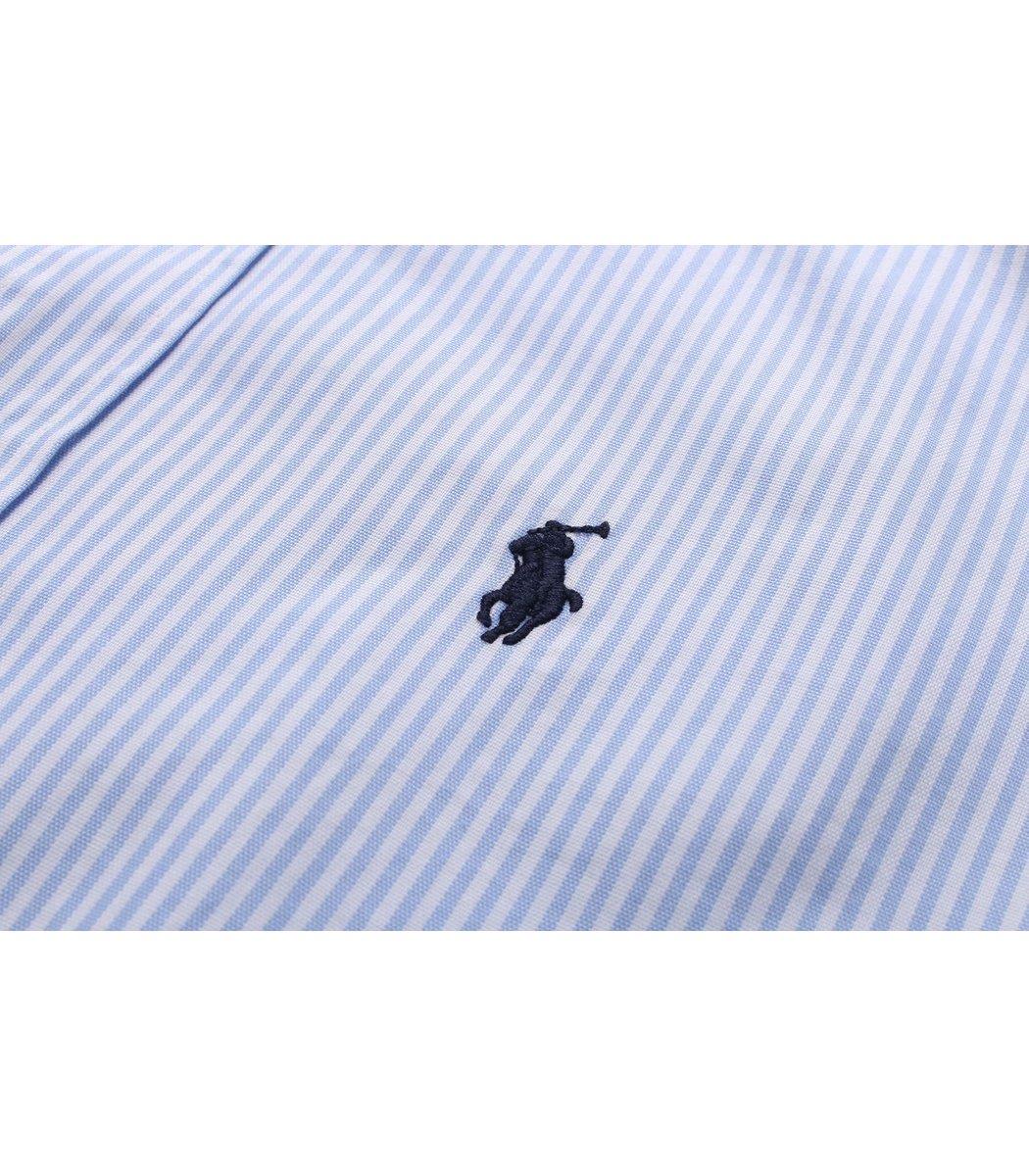 Голубая рубашка POLO Ralph Lauren в полоску RR6