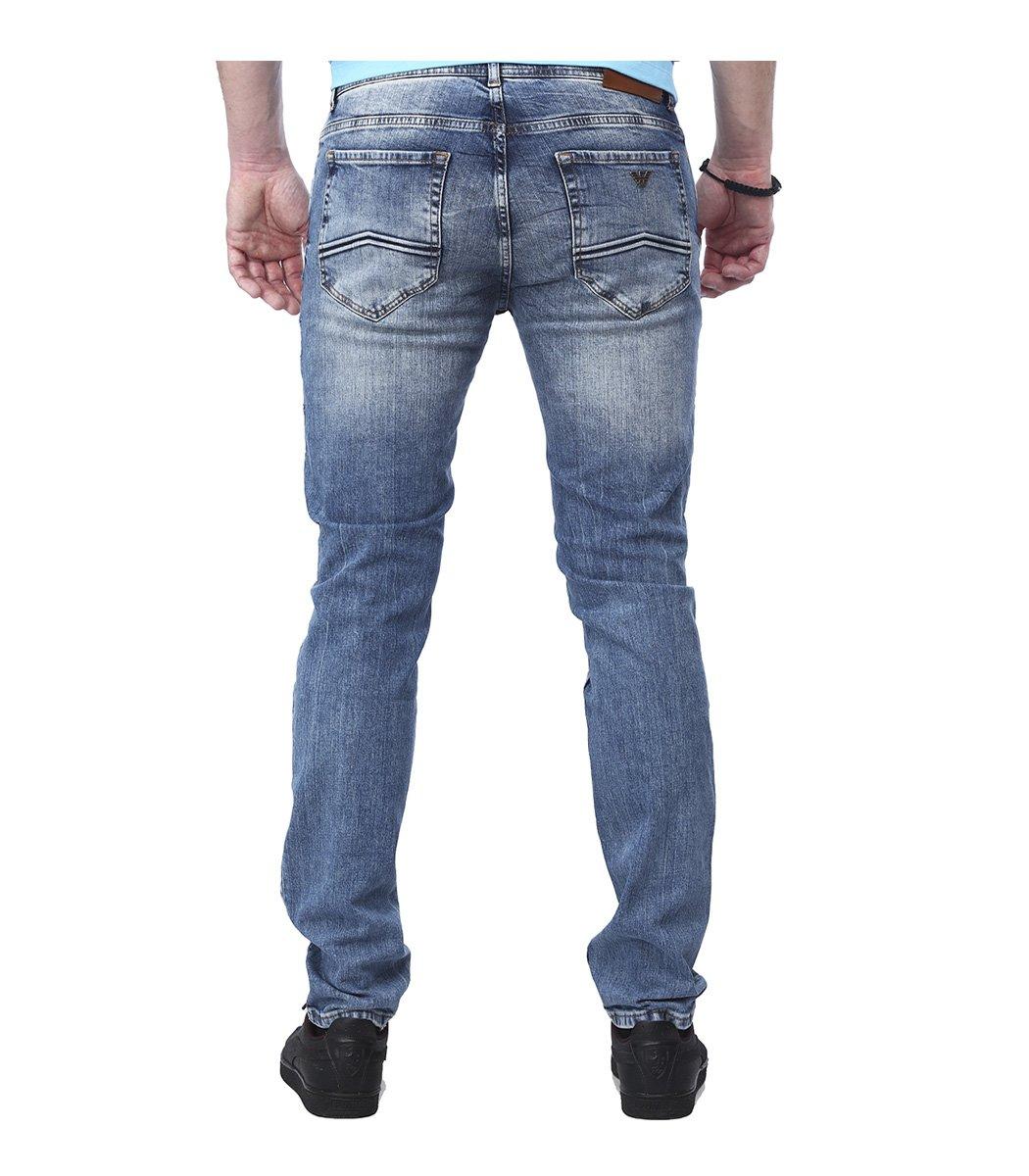 Голубые джинсы Emporio Armani гранж 3144
