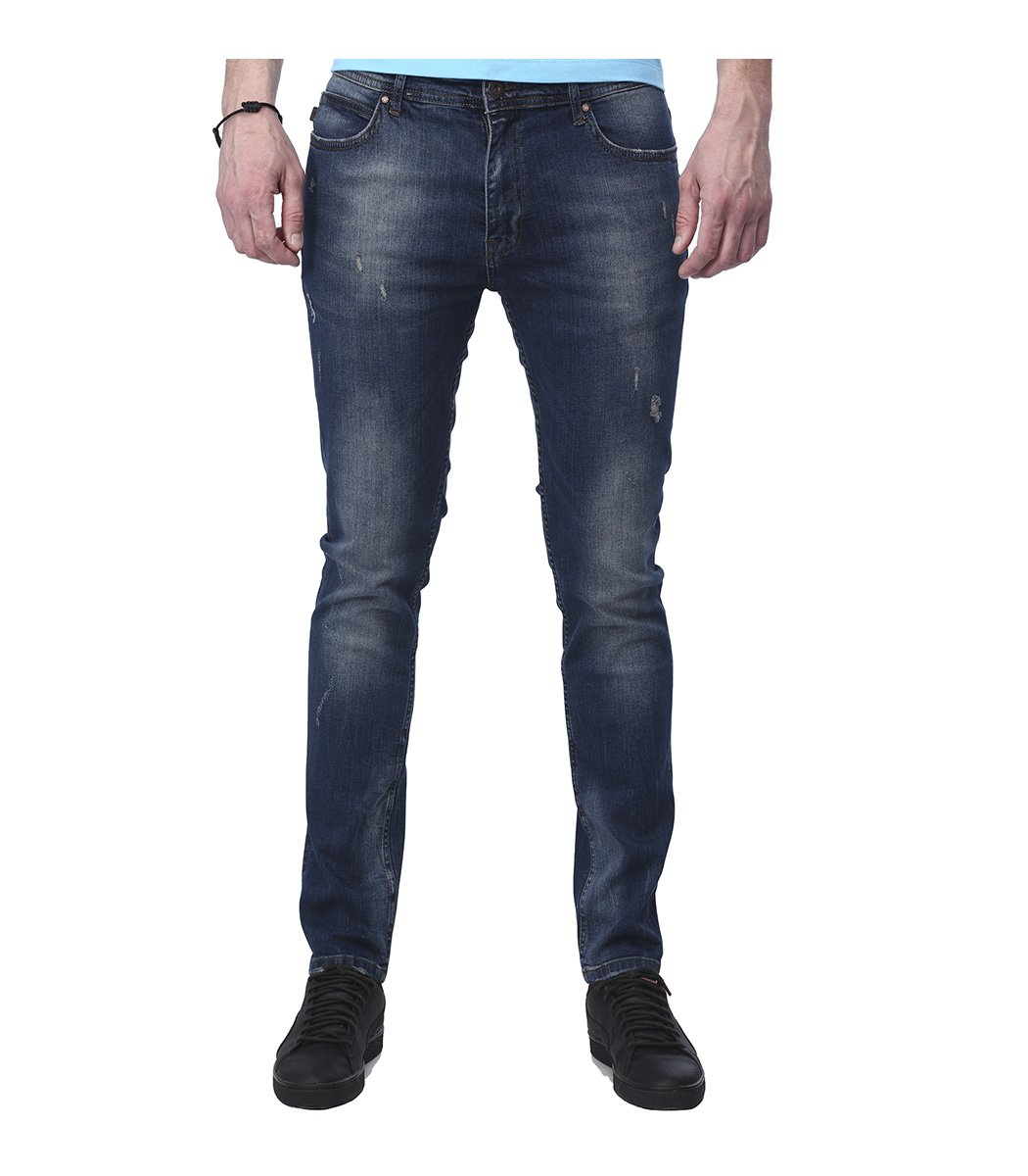 Синие джинсы Emporio Armani гранж 3157