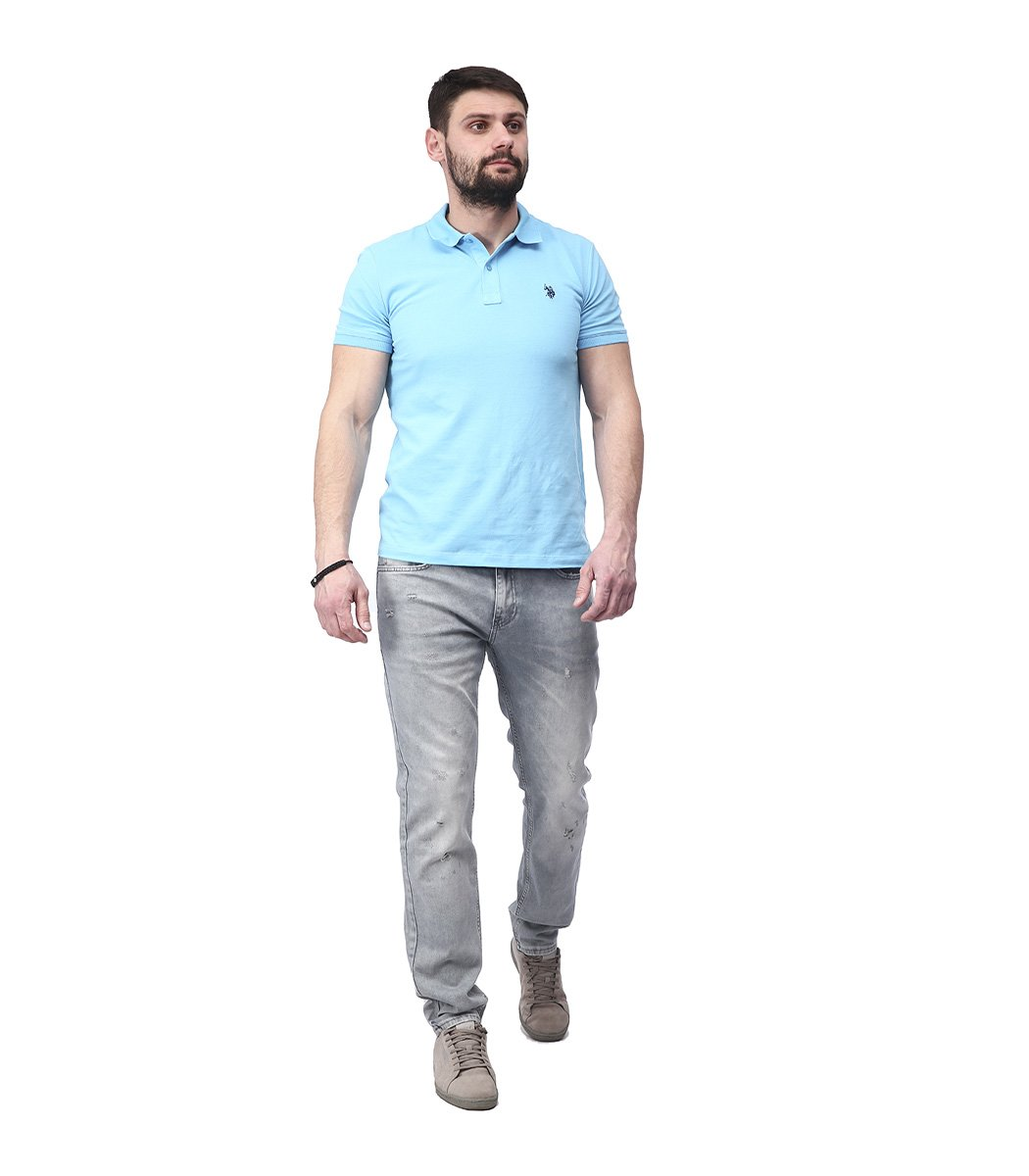 Серые джинсы Emporio Armani гранж 3145 - Серый - Вид 4