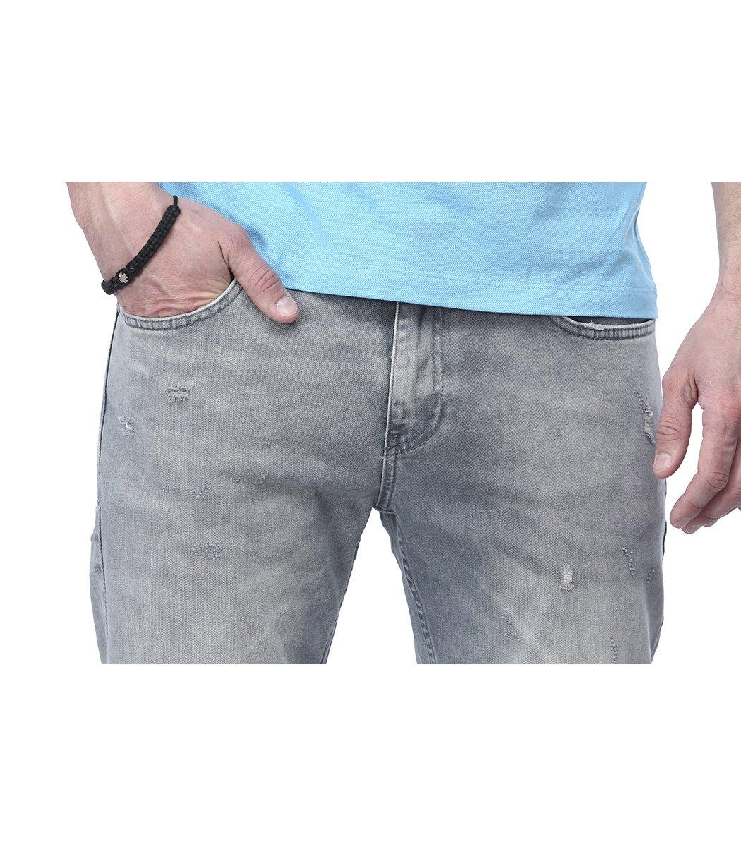 Серые джинсы Emporio Armani гранж 3145 - Серый - Вид 5