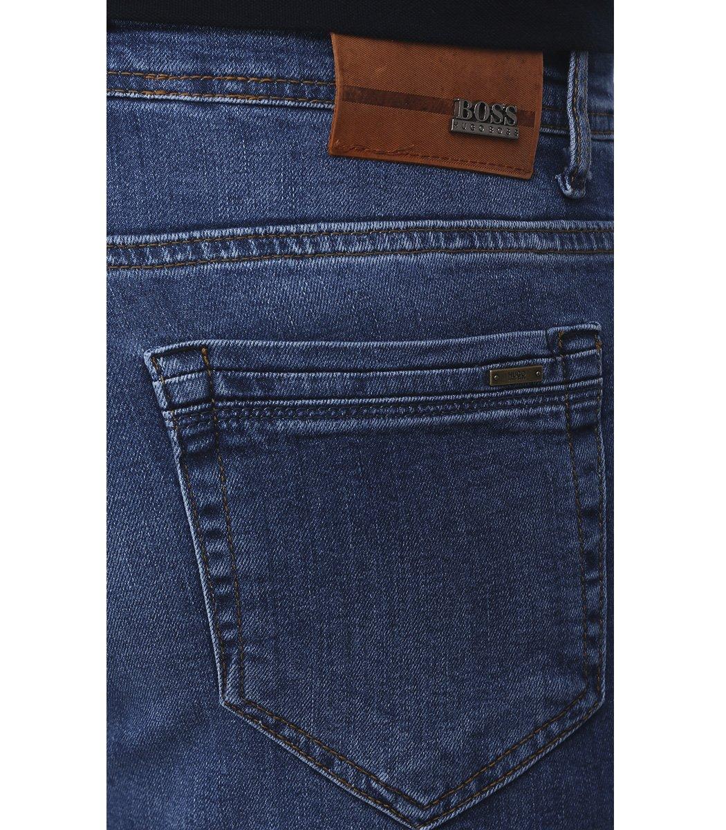 Синие джинсы Hugo Boss 9114 - Синий - Вид 7