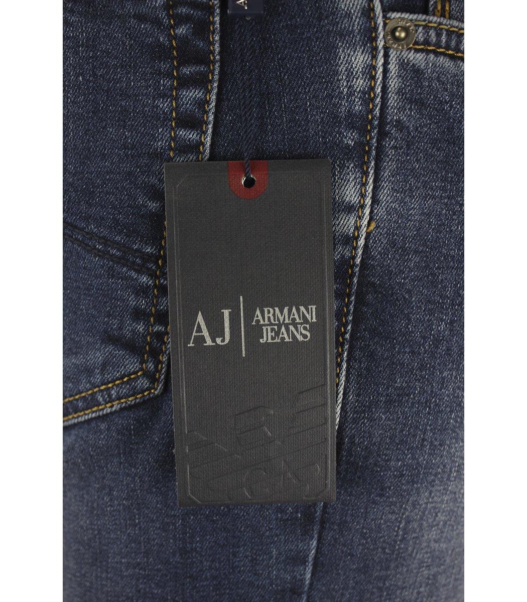 Синие джинсы Emporio Armani 7749 + ремень