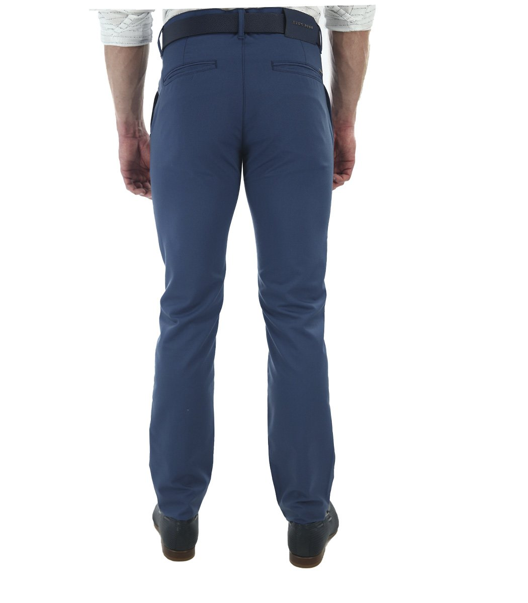 Синие брюки Hugo Boss 7646 - Синий - Вид 4