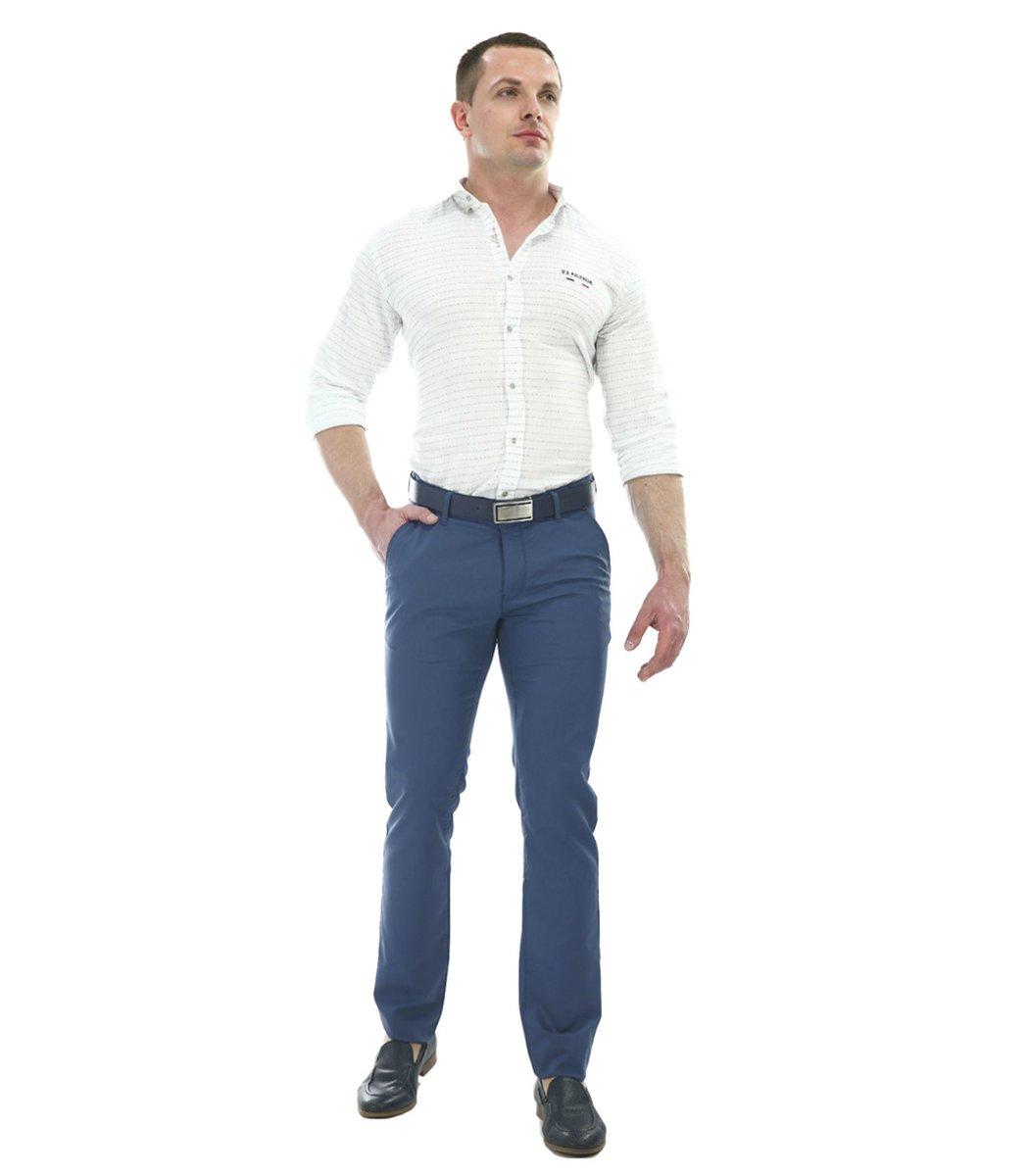 Синие брюки Hugo Boss 7646 - Синий - Вид 3