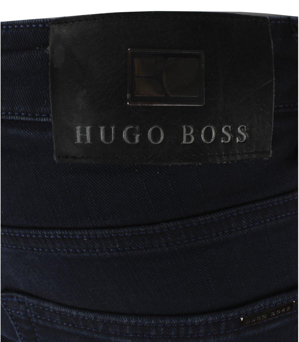 Темно-синие джинсы Hugo Boss 6823 + черный ремень