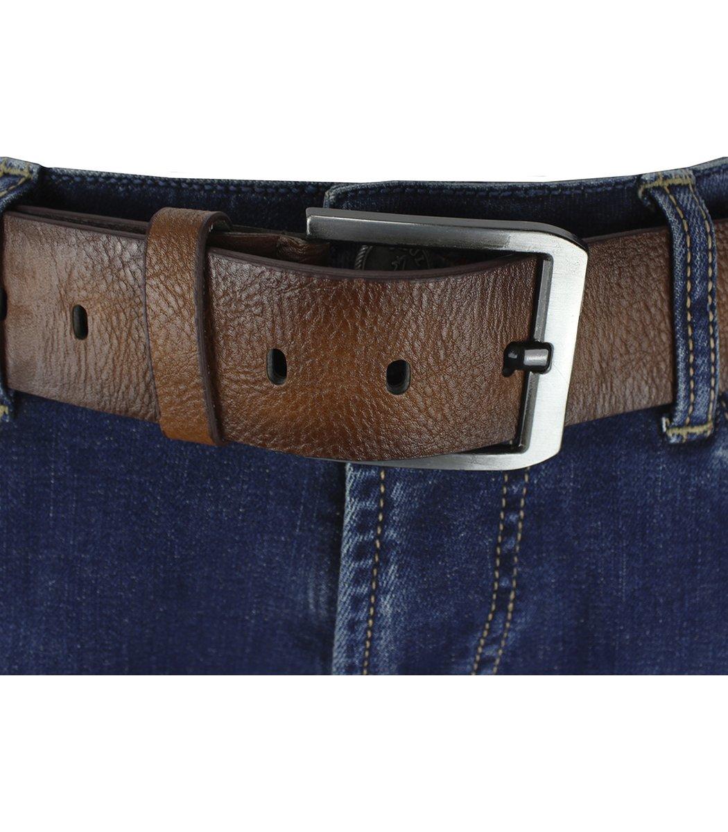 Cиние джинсы Paul&Shark 6816 + коричневый ремень