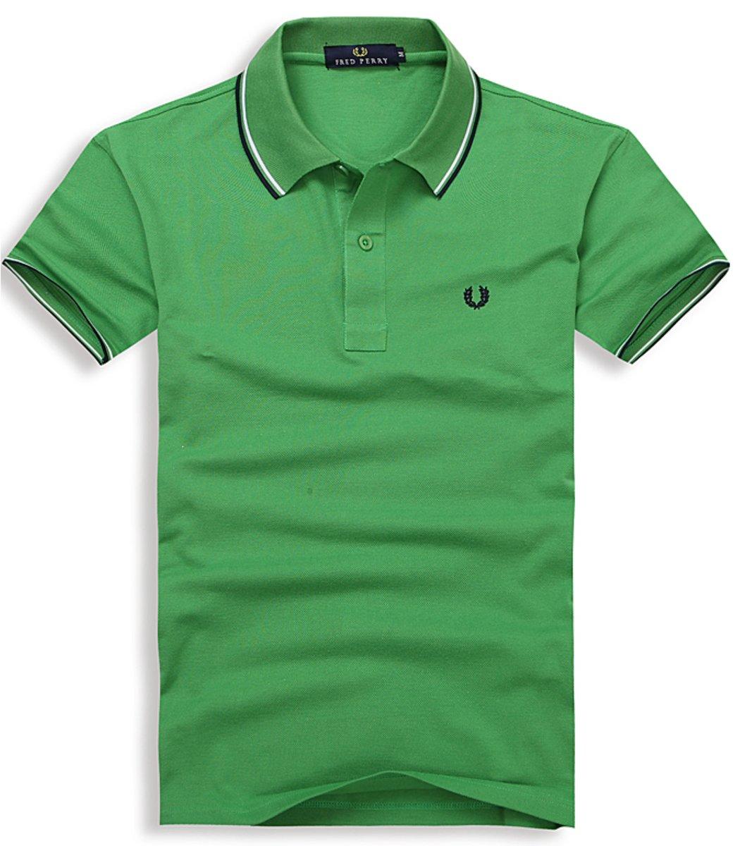 Мужская зеленая футболка поло Fred Perry