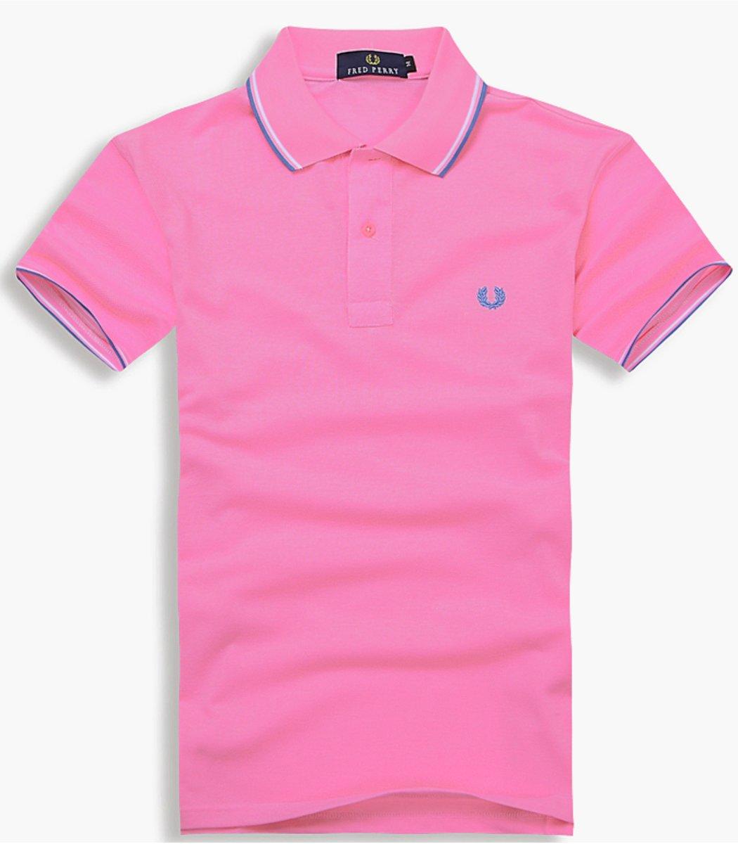 Мужская темно-розовая футболка поло Fred Perry
