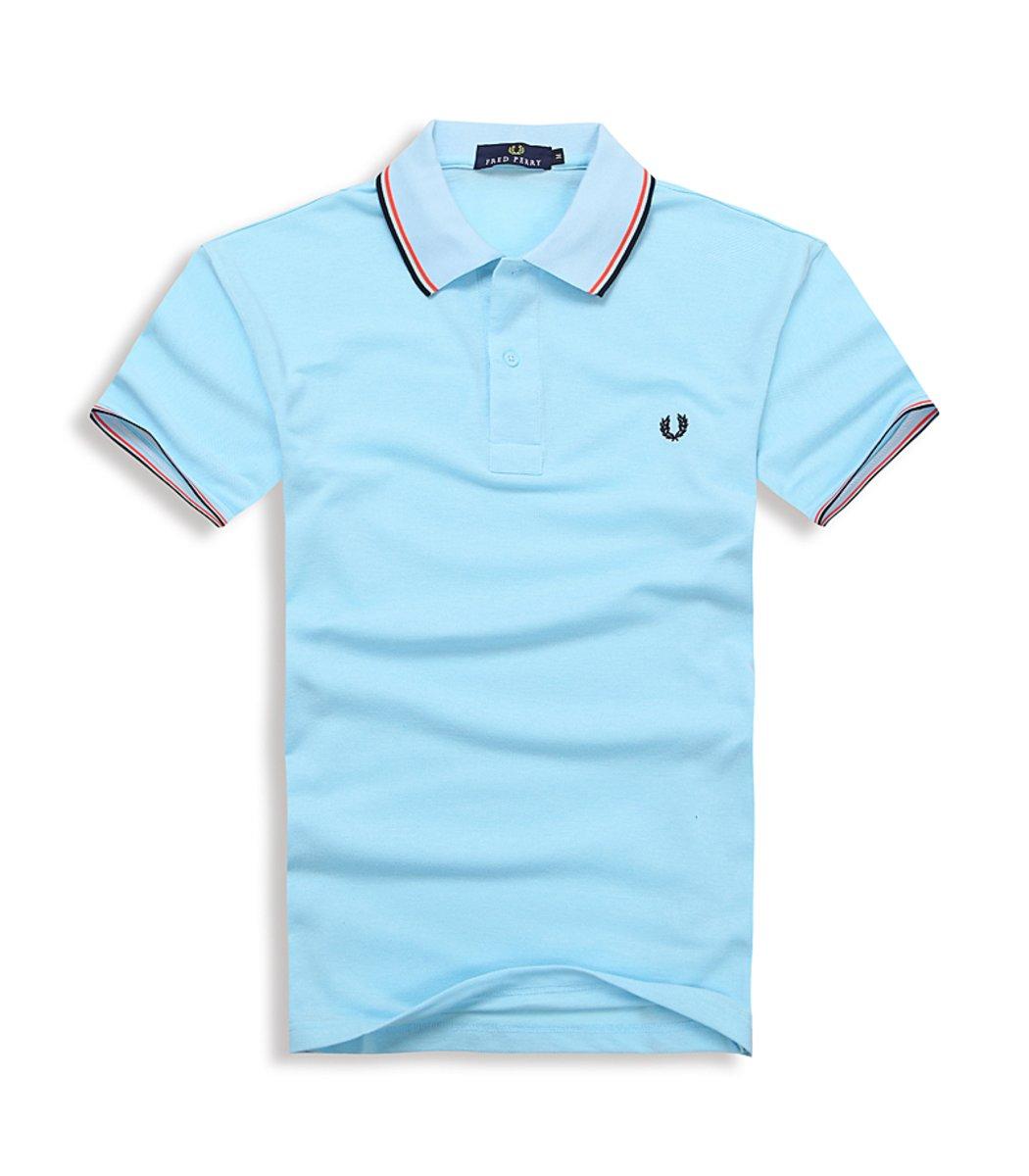 Мужская голубая футболка поло Fred Perry